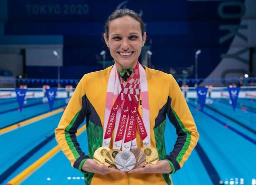 Maria Carolina é uma das atletas mais vitoriosas nos Jogos Paralímpicos de Tóquio. .
