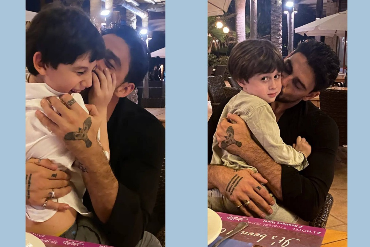 Michele Morrone passa semana com os filhos e fãs estão encantados