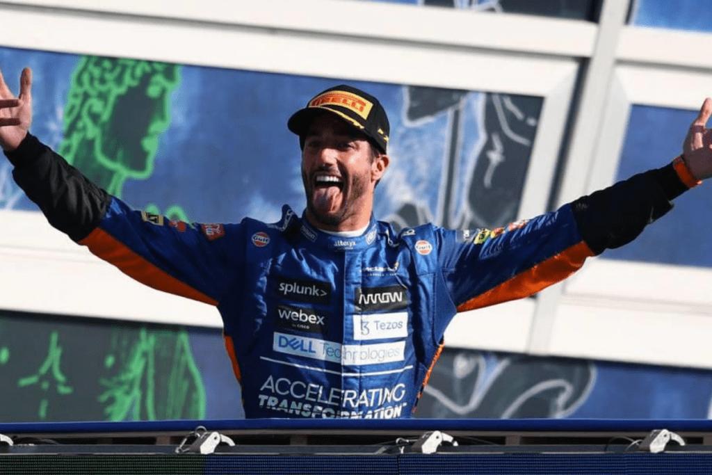 Ricciardo vencedor do GP na Itália.
