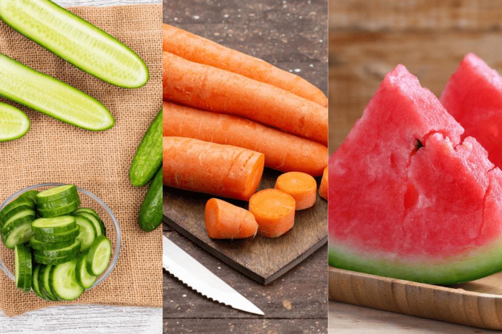 Conheça alimentos que ajudam a combater a retenção de líquidos.