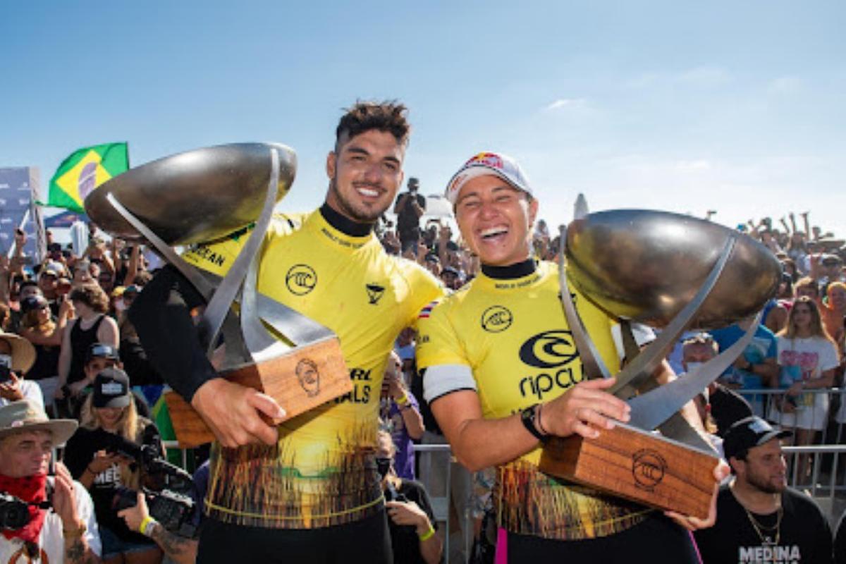 Surfe: Gabriel Medina é tricampeão e o pentacampeonato de Carissa Moore