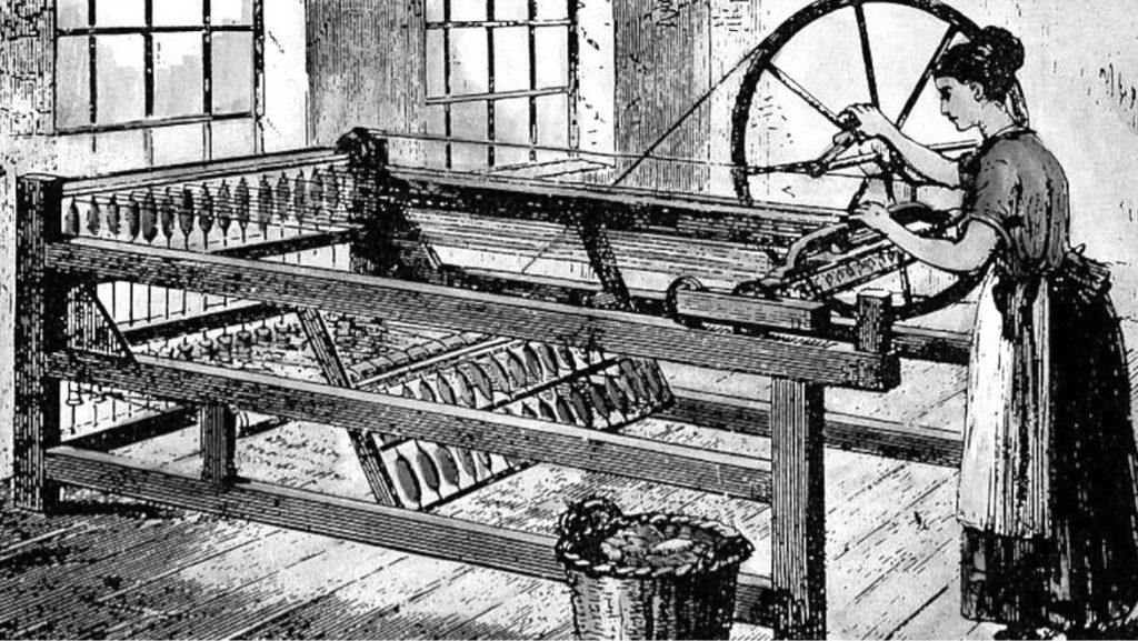 A Spinning Jenny é uma das diversas máquinas criadas durante a Revolução Industrial.