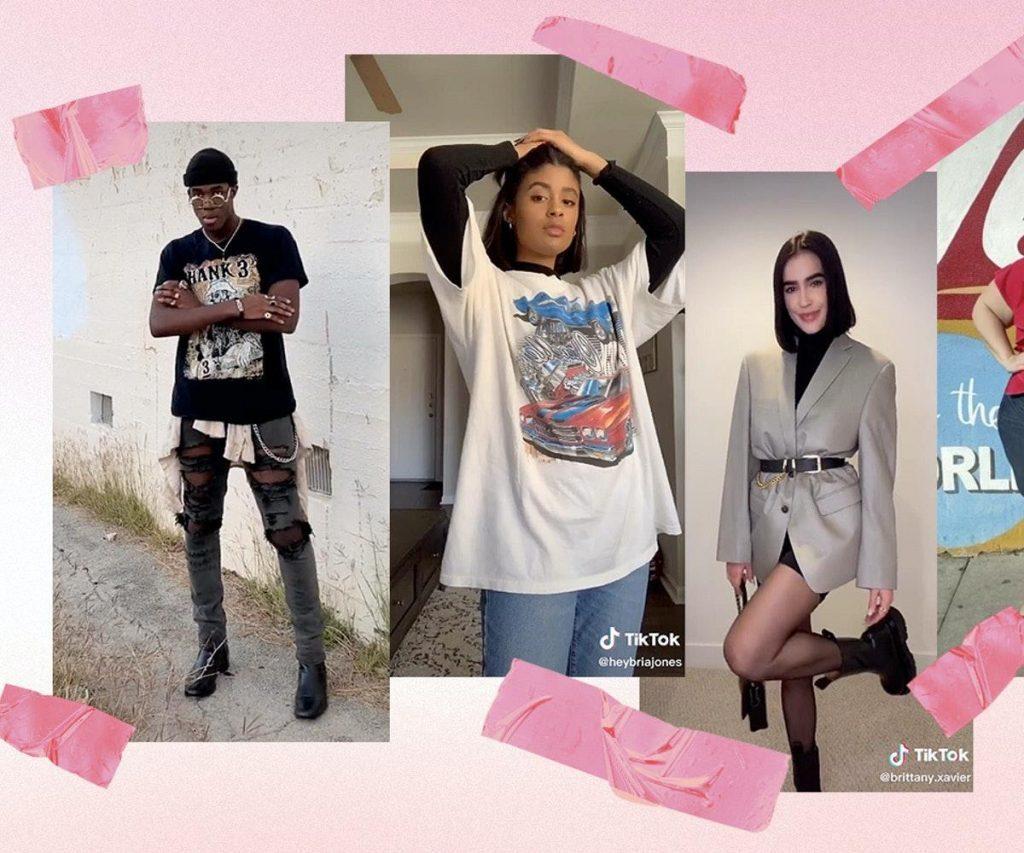 Na rede social é possível ver quais as roupas da moda e quem está usando.