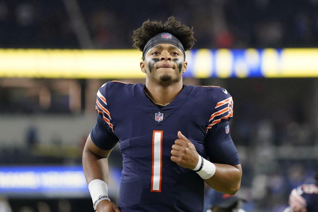 Justin Fields, novo Quarterback do Chicago Bears.