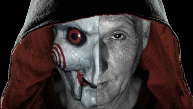 Jigsaw, um dos vilões mais conhecidos dos filmes de terror.
