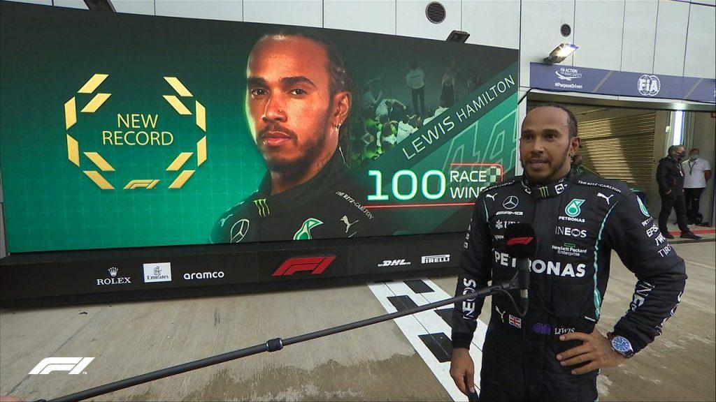 Lewis Hamilton, o primeiro a vencer 100 corridas na Fórmula 1.