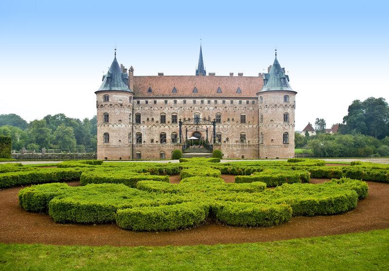 Castelo de Egeskov, um dos mais famosos da Dinamarca.