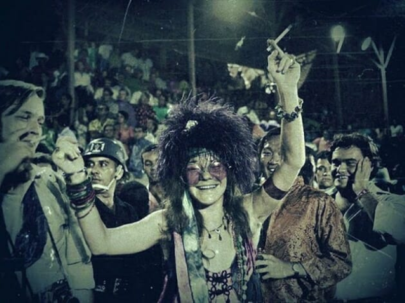 Janis Joplin no Rio de Janeiro.
