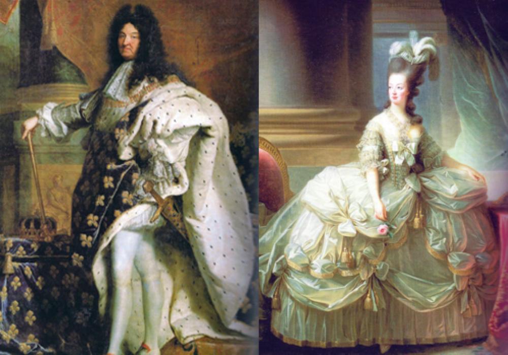 As vestimentas do século XVI na França eram parte da etiqueta criada por Luís XIV.