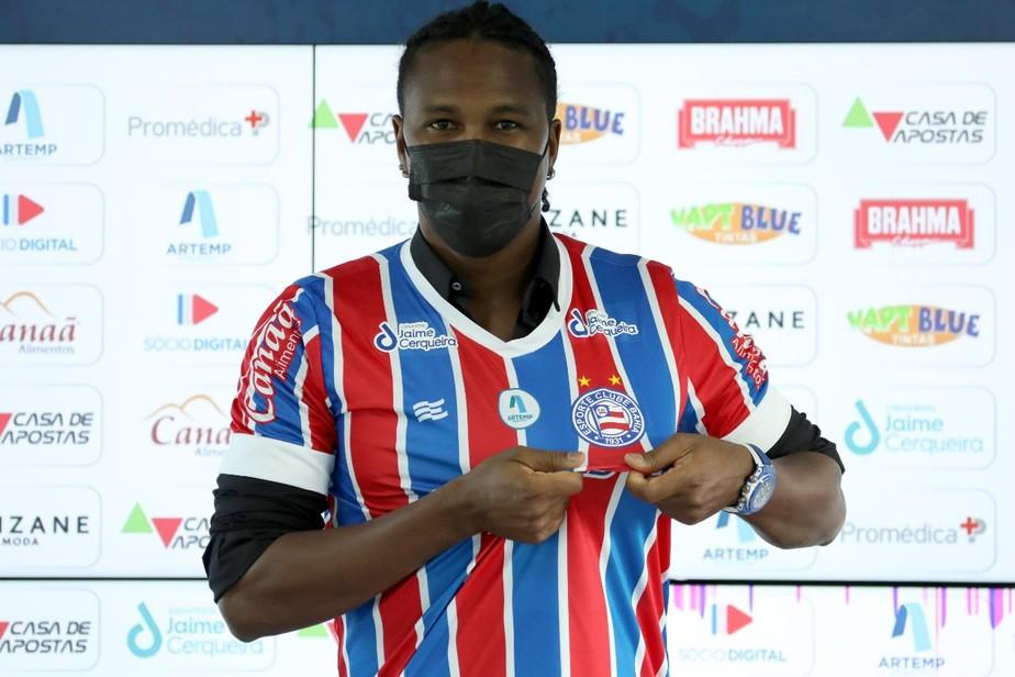 Hugo Rodallega acaba de chegar ao Bahia.